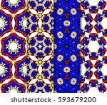 set of decorative geometric... | Shutterstock .eps vector #593679200