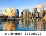 Singapore City Skyline At The...