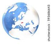 map of slovakia on elegant...   Shutterstock . vector #593686643