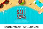 web banner for summer sale | Shutterstock .eps vector #593686928