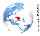 map of ukraine on elegant...   Shutterstock . vector #593687966