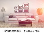 interior with sofa. 3d... | Shutterstock . vector #593688758