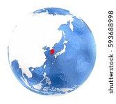 map of south korea on elegant... | Shutterstock . vector #593688998