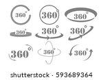 360 degrees view vector icon | Shutterstock .eps vector #593689364