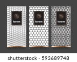 vector set packaging templates... | Shutterstock .eps vector #593689748