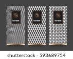 vector set packaging templates...   Shutterstock .eps vector #593689754