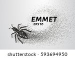 ant of the particles. the ant... | Shutterstock .eps vector #593694950