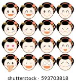 icon emotion sticker   geisha ...