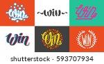 win text sign test success... | Shutterstock .eps vector #593707934