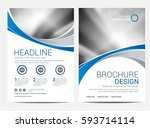 brochure or flyer design... | Shutterstock .eps vector #593714114