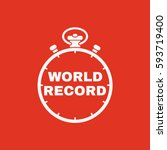 stopwatch with the word world... | Shutterstock .eps vector #593719400