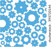 color pattern with gears and... | Shutterstock .eps vector #593720144