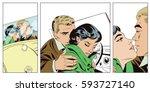 stock illustration. people in... | Shutterstock .eps vector #593727140