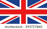 vector flag of uk  great... | Shutterstock .eps vector #593727860