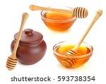 honey on white background   Shutterstock . vector #593738354