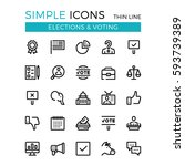 elections  voting  political... | Shutterstock .eps vector #593739389