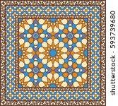 ornamental pattern in arabic...   Shutterstock .eps vector #593739680