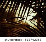 Leave Tropics Pattern Brown...