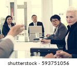 business discussion meeting... | Shutterstock . vector #593751056