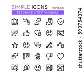 testimonials  feedback  social... | Shutterstock .eps vector #593754374