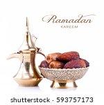 ramadan kareem. ramadan... | Shutterstock . vector #593757173