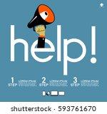 helpful icon. service concept... | Shutterstock .eps vector #593761670