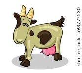 goat   Shutterstock .eps vector #593772530
