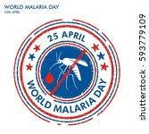 world malaria day stamp | Shutterstock .eps vector #593779109