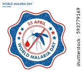 world malaria day stamp | Shutterstock .eps vector #593779169