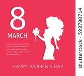 happy women's day greeting card ... | Shutterstock .eps vector #593780714