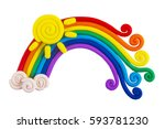 plasticine rainbow isolated on... | Shutterstock . vector #593781230