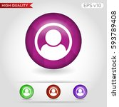 colored icon or button of man... | Shutterstock .eps vector #593789408