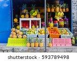port louis  mauritius   jan 11  ... | Shutterstock . vector #593789498