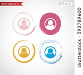 colored icon or button of man... | Shutterstock .eps vector #593789600