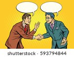 business negotiations... | Shutterstock .eps vector #593794844