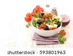 vegetable salad | Shutterstock . vector #593801963