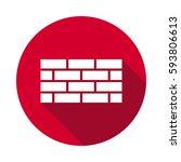 bricks wall flat icon | Shutterstock . vector #593806613