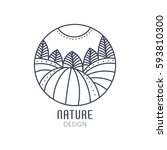 vector logo of nature elements... | Shutterstock .eps vector #593810300