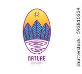 vector logo of nature elements... | Shutterstock .eps vector #593810324
