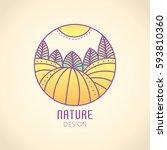 vector logo of nature elements... | Shutterstock .eps vector #593810360