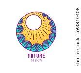vector logo of nature elements...   Shutterstock .eps vector #593810408