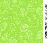 vector seamless simple pattern... | Shutterstock .eps vector #593811980
