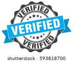 verified. stamp. sticker. seal. ... | Shutterstock .eps vector #593818700