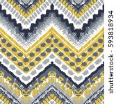 tribal ethnic seamless pattern. ... | Shutterstock .eps vector #593818934