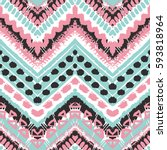 tribal ethnic seamless pattern. ... | Shutterstock .eps vector #593818964