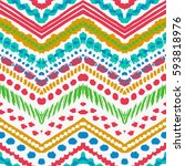 tribal ethnic seamless pattern. ... | Shutterstock .eps vector #593818976