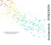 molecule dna and neurons vector.... | Shutterstock .eps vector #593819054