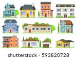 Houses Front View Vector...