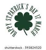 happy st. patrick's day. the... | Shutterstock .eps vector #593824520