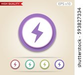 colored icon or button of flash ... | Shutterstock .eps vector #593827334
